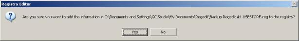 Screenshot Dialog Box Adding Registry Information